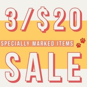 🐾 3/$20 all Paw Print Items!!! 🐾